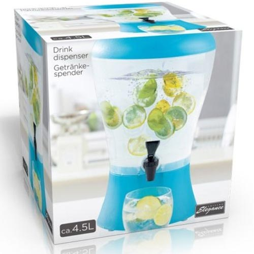 Distributore Acqua Bibite 4,5 Lt con Rubinetto Cocktail Cola Spremute Dispenser Ingrosso24online ...