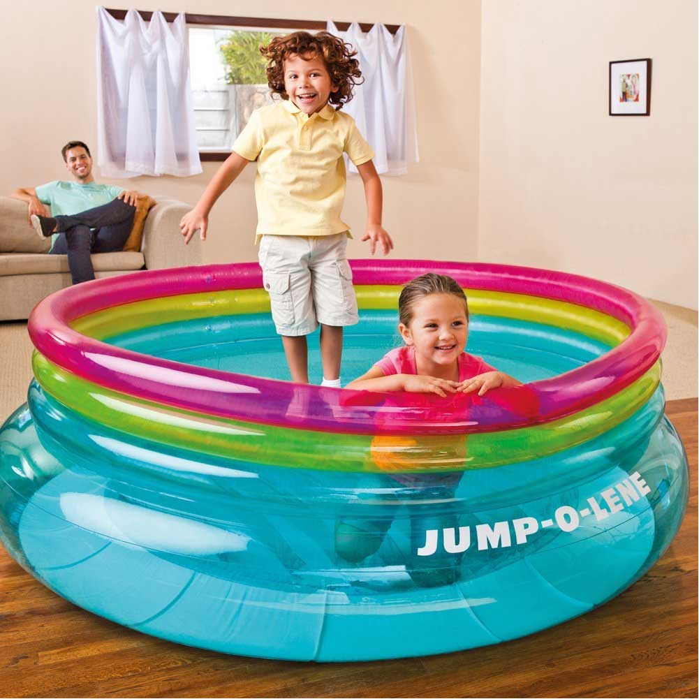 Play House Jump o Lene Gonfiabile per Bambini Playcenter Trampolino 203x69 Intex.