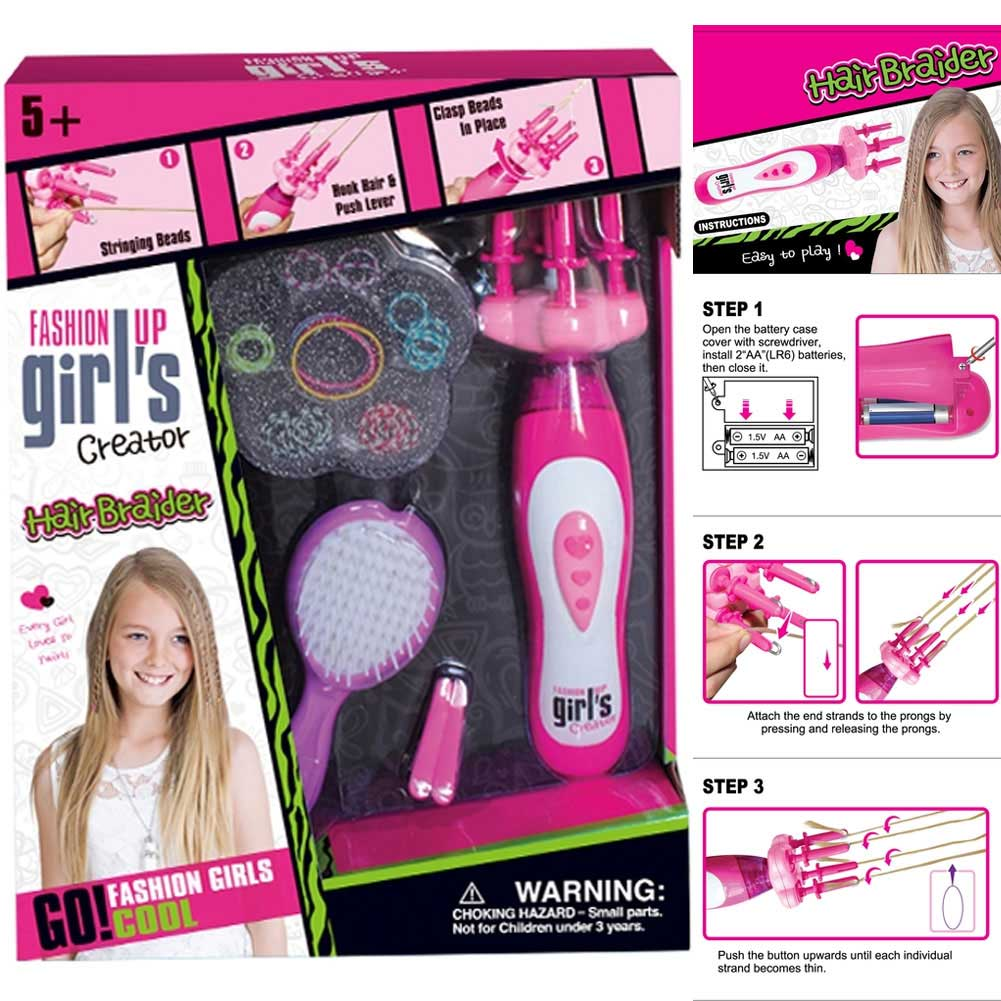 Crea le Trecce per Capelli FASHION UP GIRLS Girl's Creator 434636.