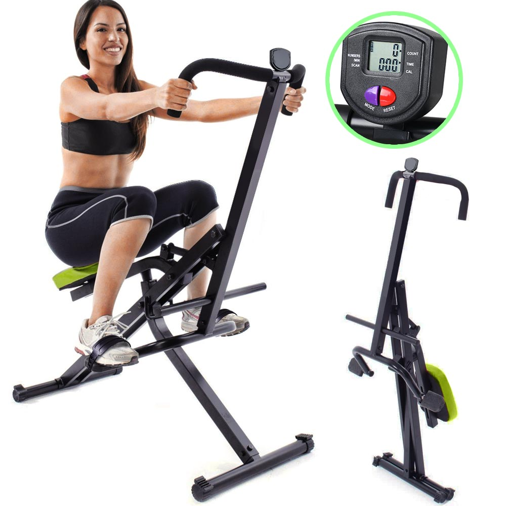 Attrezzo Total Fitness Allenamento Palestra Cardio Addominali Crunch con Display.