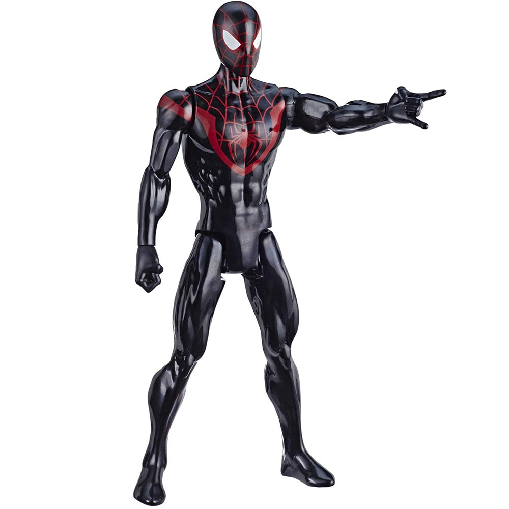 Action Figures Marvel Spiderman Personaggio Miles Morales Titan Hero Series.