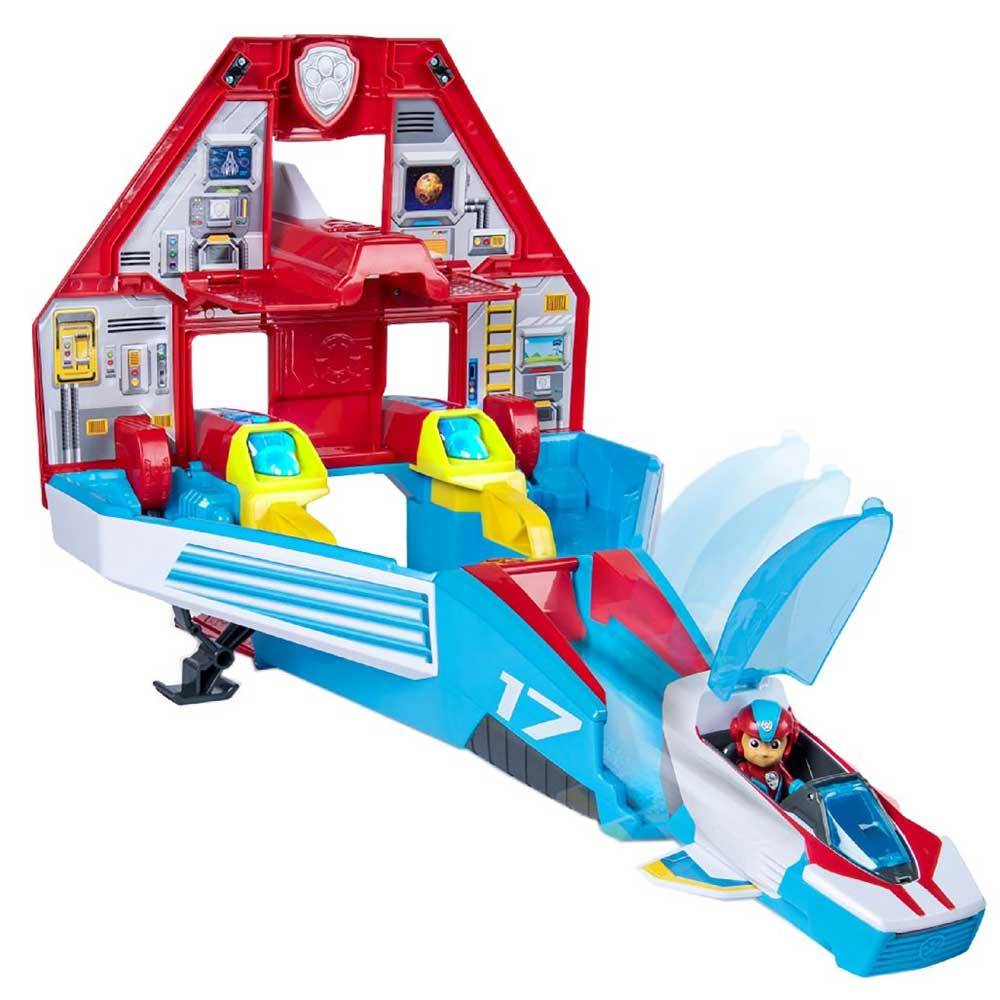 Paw Patrol Super Paws Jet Command Ryder Center con Luci Suoni e Accessori Gioco.