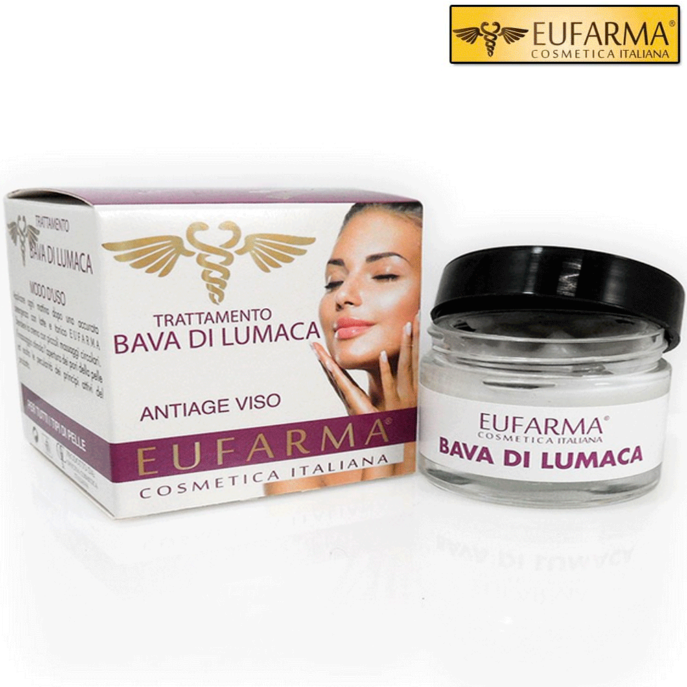EUFARMA CREMA VISO ANTI AGE BAVA DI LUMACA ANTIRUGHE 50 ML EUFARMA MADE IN ITALY.