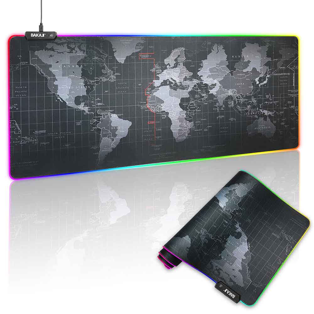 Tappetino Mouse Tastiera Gaming XXL 80x30 Mousepad Luce LED RGB Cambio Colore.