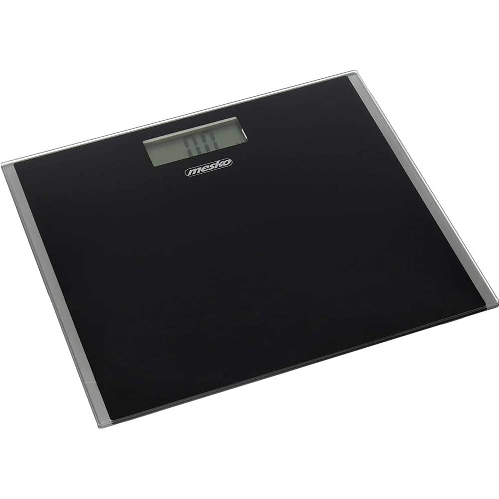 Bilancia Pesapersona Digitale Display LCD Design Slim Max 150Kg da Bagno Nero.