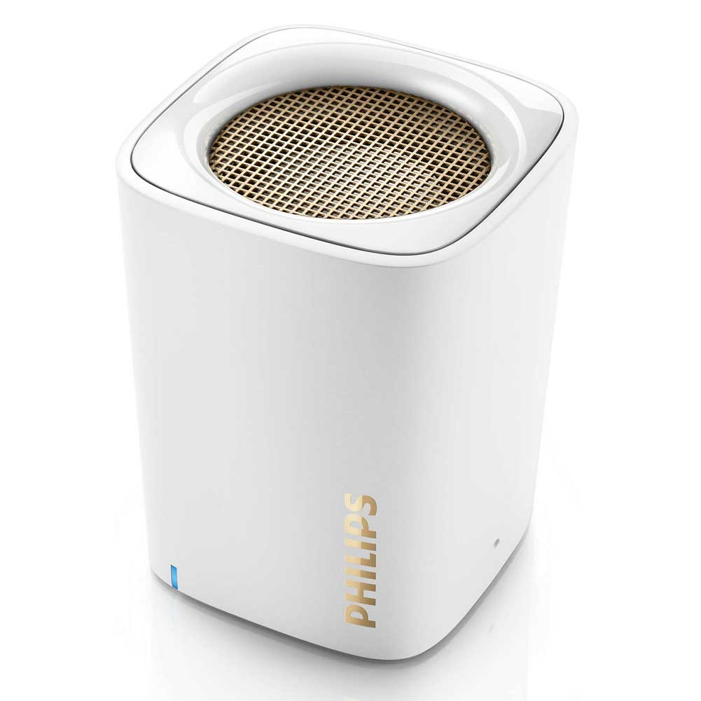 Cassa Speaker Bluetooth Wireless Altoparlante Portatile Microfono Philips Bianco.