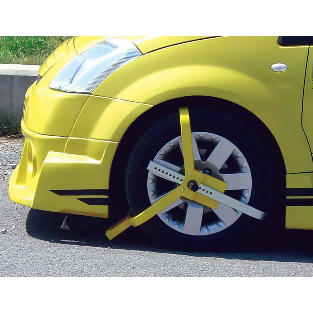 Antifurto Blocca Ruota Auto Blocker Accessori Auto Sicurezza Auto Max 215 mm.