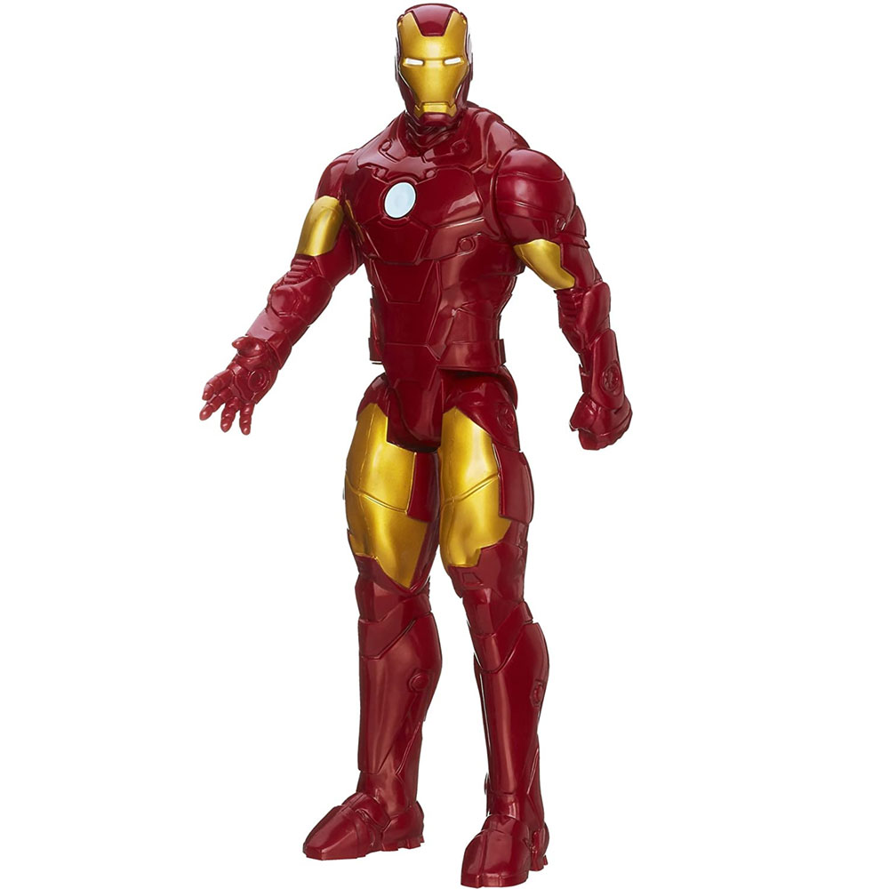 Action Figures Marvel Avengers Assemble Titan Hero Personaggio Iron Man 30cm.
