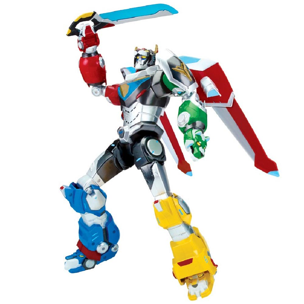 Action Figures Voltron Legendary Defender Personaggio Deluxe Ultimate con Suoni.