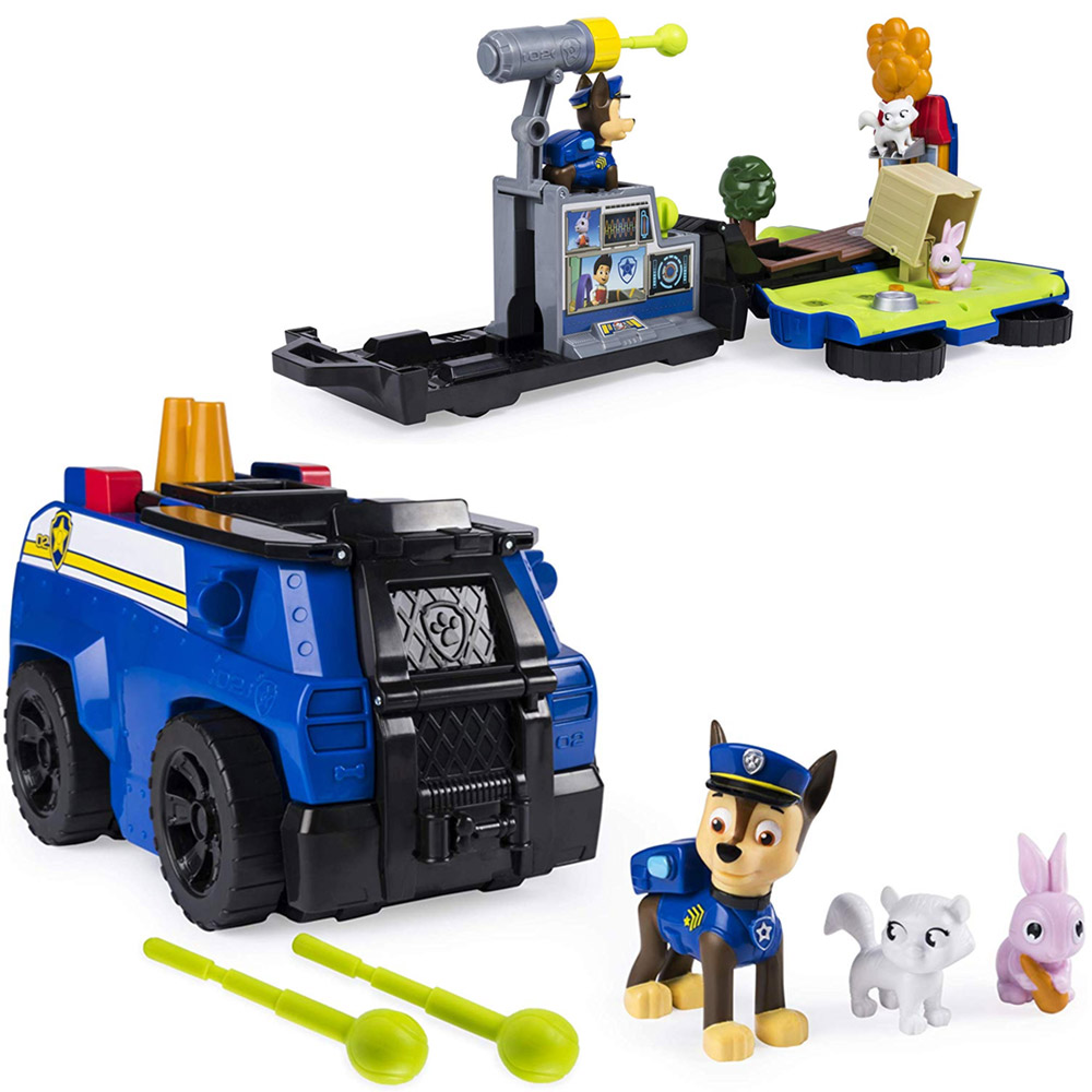 Paw Patrol Camion Trasformabile Chase Ride n Rescue 2in1 Giocattolo Bambini.