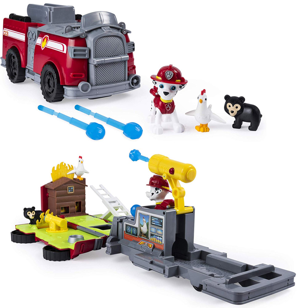 Paw Patrol Camion Trasformabile Marshall Ride n Rescue 2in1 Giocattolo Bambini.