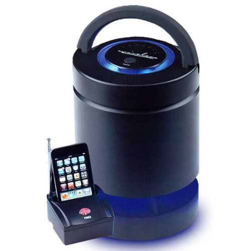 Altoparlante Amplificato wireless con trasmettitore-docking station Smartphone.