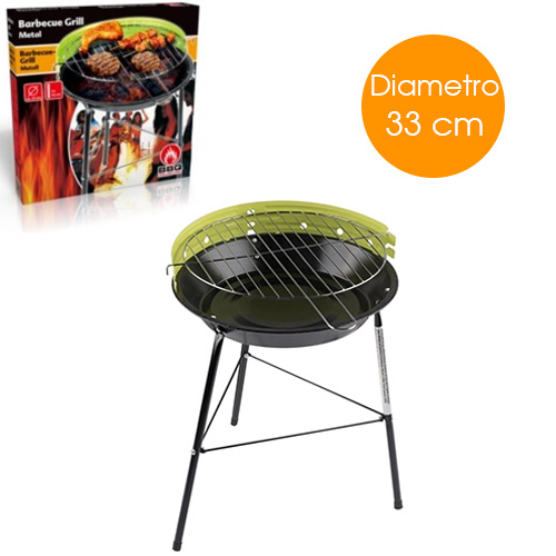 Barbecue a Carbone BBQ Paravento Colori Assortiti diametro 33 a Carbonella Grill.