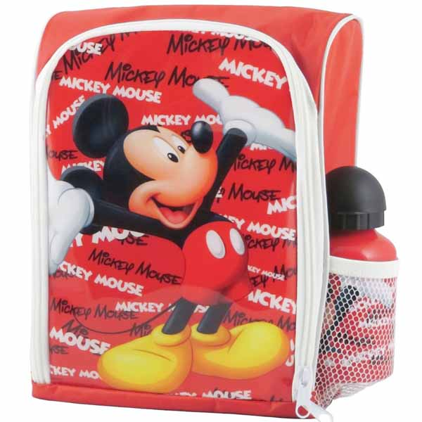 Borsa Termica 31 x 21,2 x 7 cm con Borraccia in Inclusa Disney Topolino.