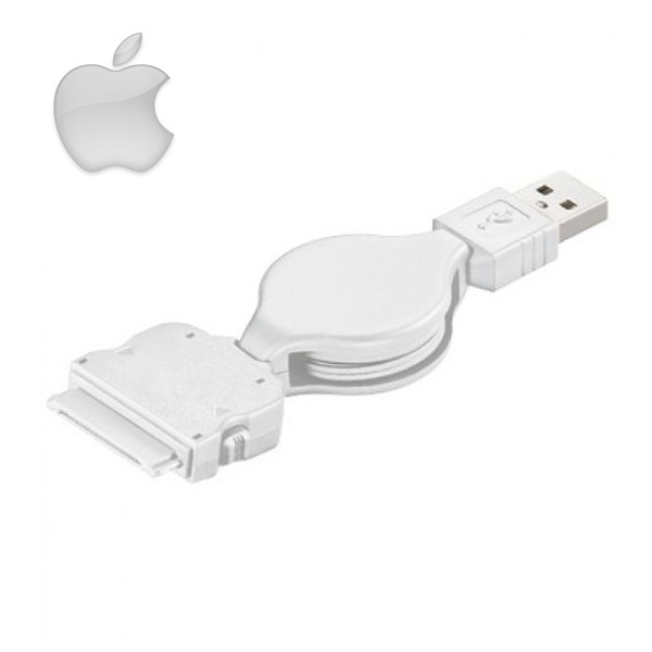 Cavo USB prolunga retrattile 75cm per Apple iPad, iPod e iPhone.