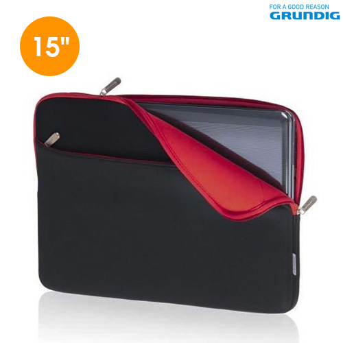 Custodia per Laptop e Notebook 15 pollici Colori Assortiti in Neoprene Grundig.
