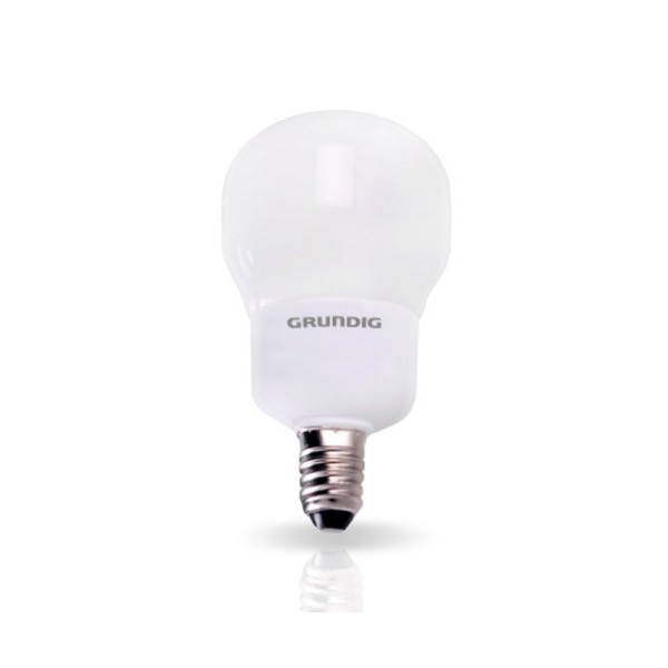 Grundig Lampadina a Risparmio Energetico Forma Compact 5W E14 luce calda.