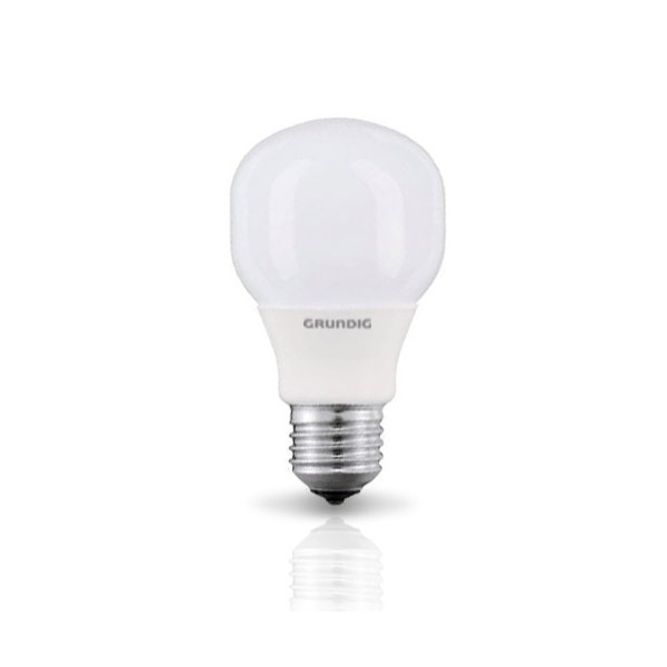 Grundig Lampadina a Risparmio Energetico Forma Compact 8W E27 luce calda.