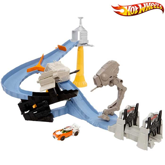 Hot Wheels CLM24 Pista Auto Macchine Circuito Factory Takedown Star Wars.