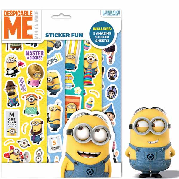 Minions Set Stickers Decorativi Attacca e Stacca Cattivissimo Me.