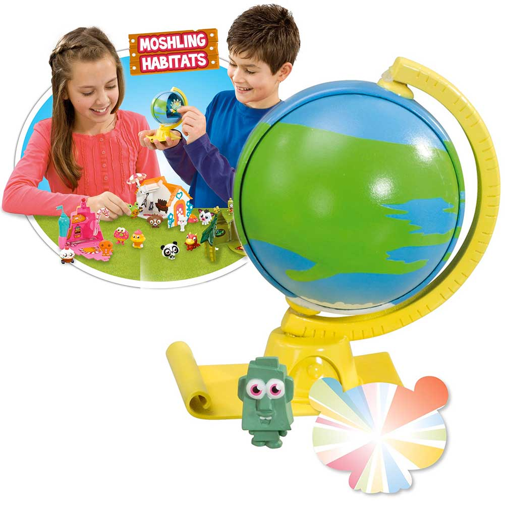 Moshi Monsters Planetaria Habitat Con 2 Figure Cambia Colore e Adesivi.