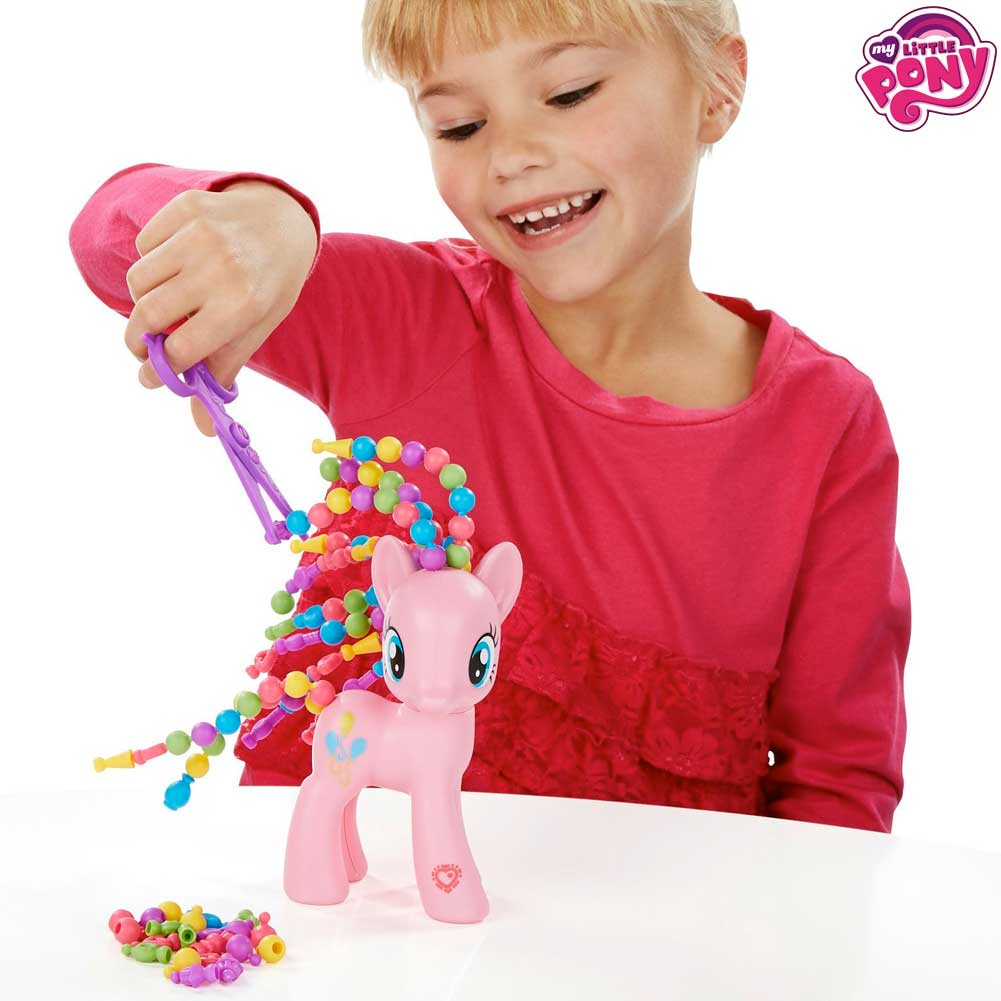 My Little Pony Capelli Pazzi Set Con Accessori Perline Decorazioni Hasbro.