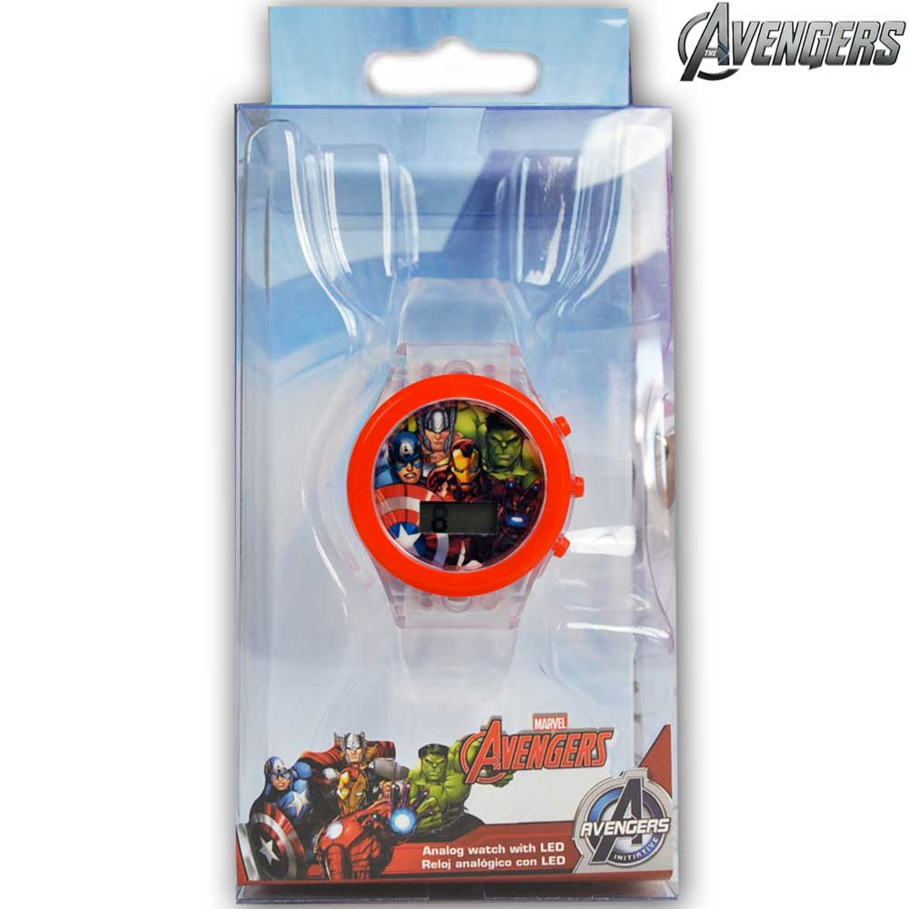 Orologio Digitale da Polso Avengers Con Luce LED in Scatola Regalo Kids Euroswan.