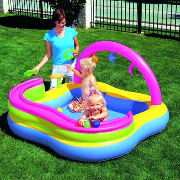 Piscina gonfiabile play center bambini con giochi for Piscine x bambini