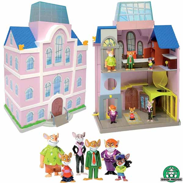 Playset Tridimensionale Geronimo Stilton Casa Con 6 Personaggi