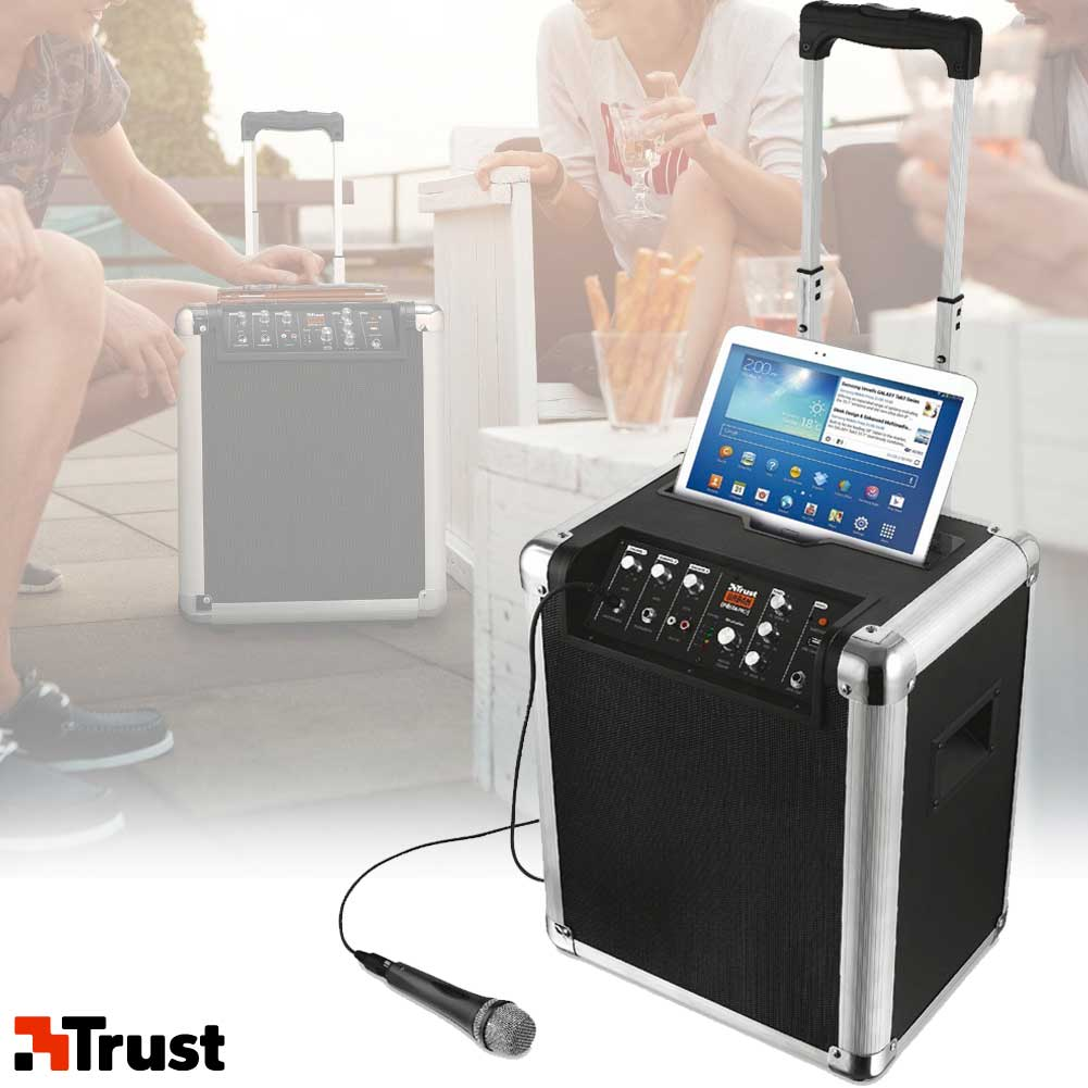 Trolley Cassa Speaker con Microfono Wireless Bluetooth Trust Urban Fiesta  Pro Ingrosso24online Prezzi all ingrosso b2b e3b97b92ae1c