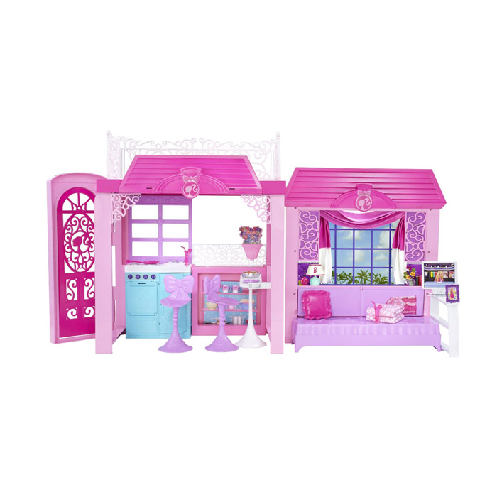 Barbie casa vacanze glam con piscina dei cuccioli bakaji for Piscina di barbie