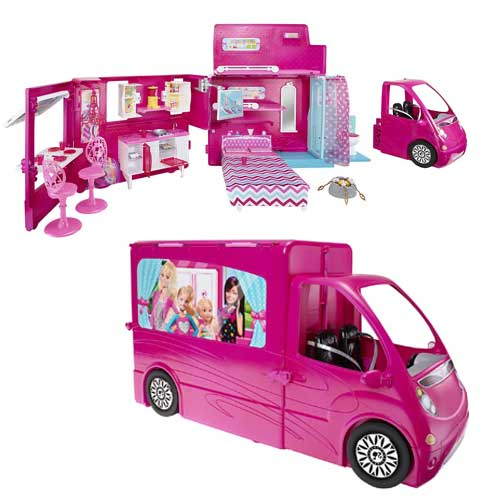 barbie glam camper nuovo super accessoriato vasca cucina