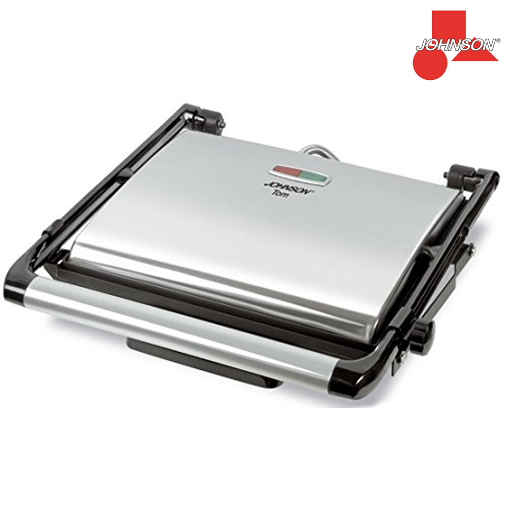 GRIGLIA ELETTRICA TOM GRILL E SANDWICH PRESS 2000W BBQ BARBEQUE GRIGIO JOHNSON.