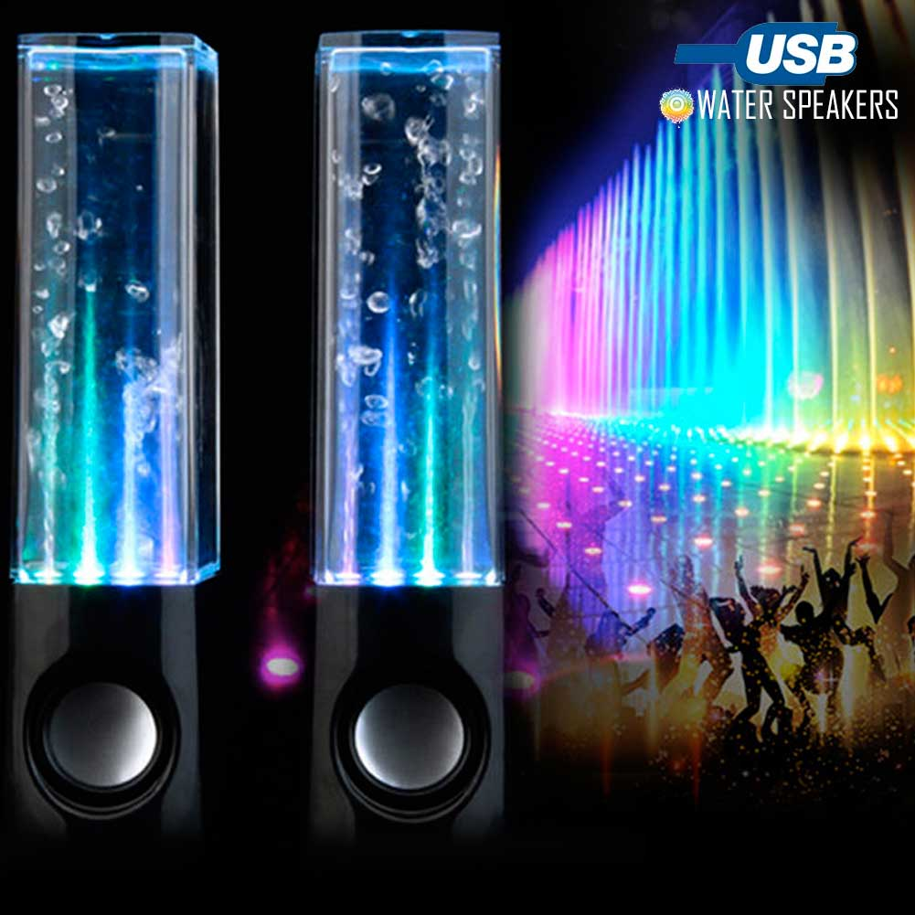 Water Dancing Speakers Casse Altoparlanti PC Smartphone USB Acqua Fontana Nero.