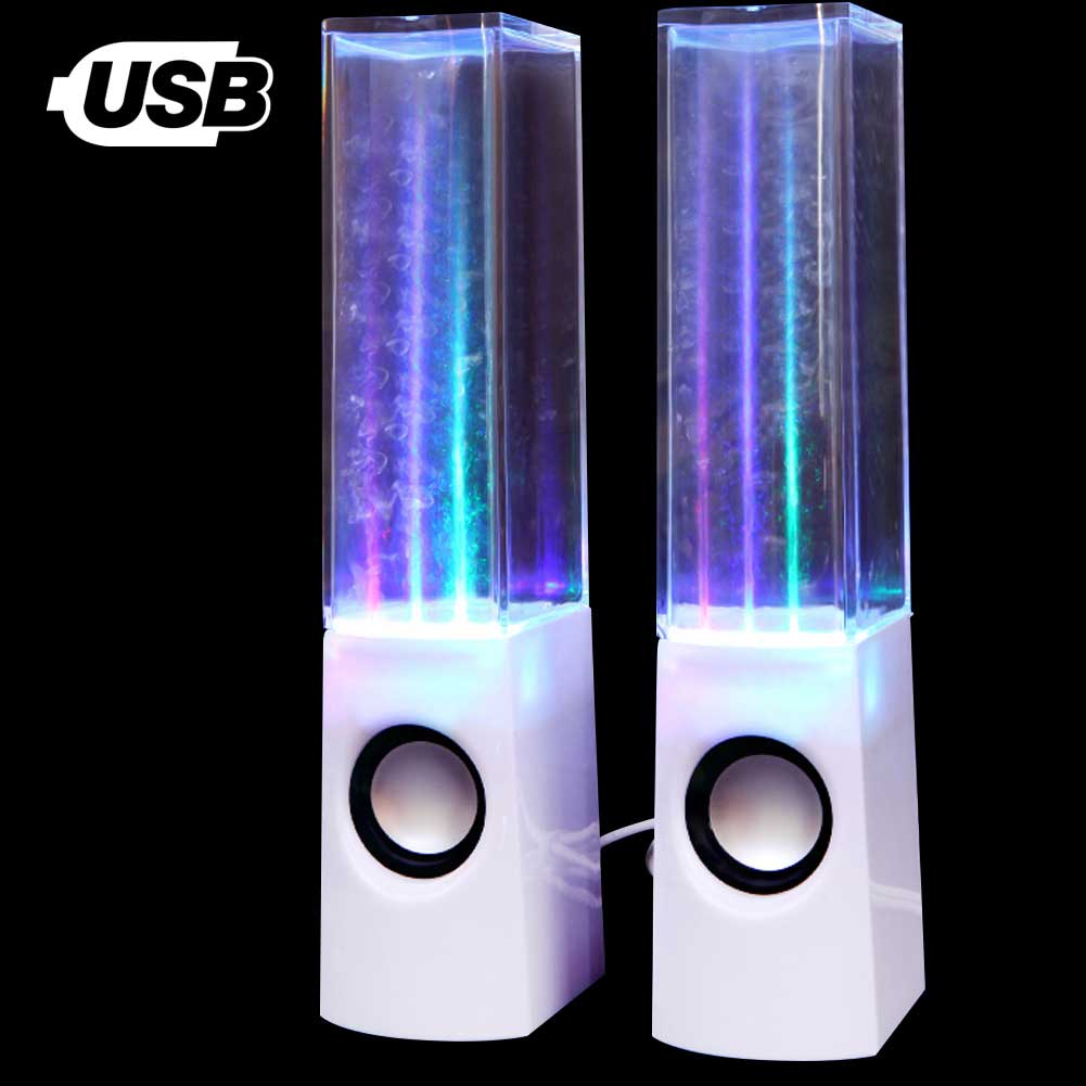 Water Dancing Speakers Casse Altoparlanti PC Smartphone USB Acqua Fontana Bianco.