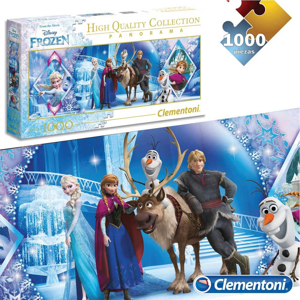 Puzzle Disney 1000 pz Personaggi Frozen Panorama Collectioni Adulti Clementoni.