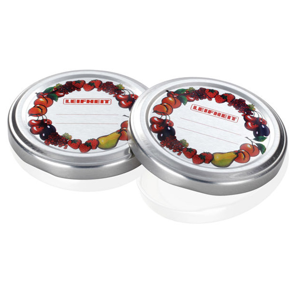 SET 10 PZ COPERCHIO VASETTO PER CONFETTURE FRUTCH AND FUN LEIFHEIT CON TARGHETTA.