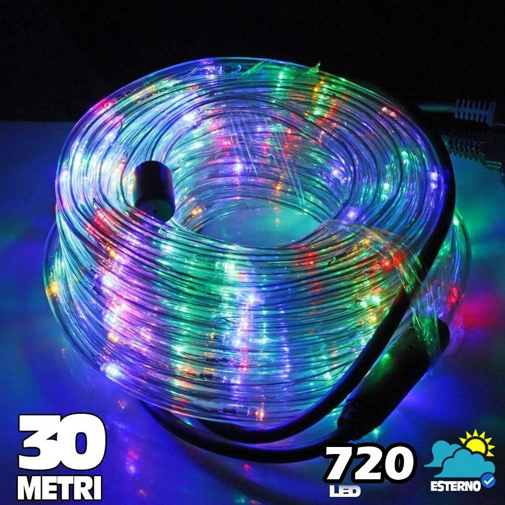 tubo luminoso a led 720 luci multicolor 30 metri per uso