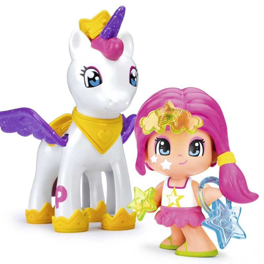 Pinypon Flying Unicorn 700014082 Mini Bambola con Unicorno Piny Pon Mix is Max.