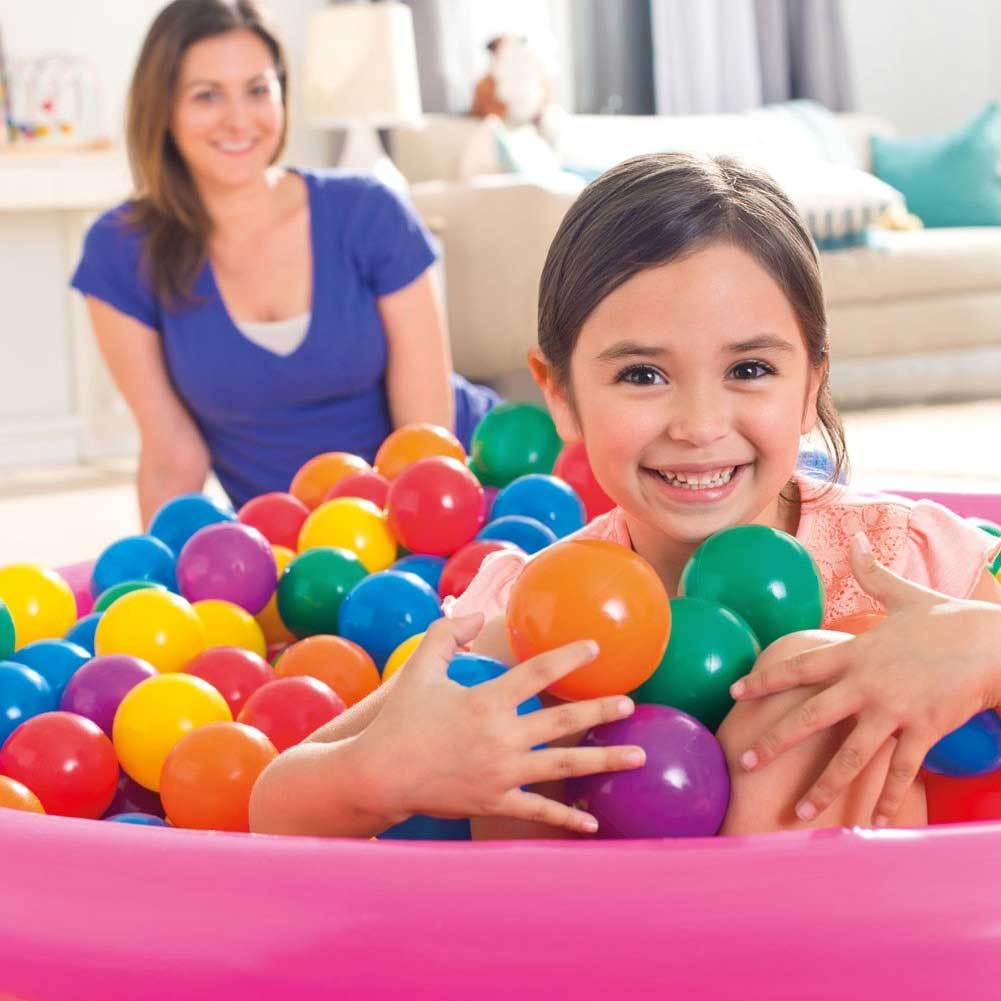 Set 100 palline colorate per piscine gonfiabili bambini intex diametro 8cm.