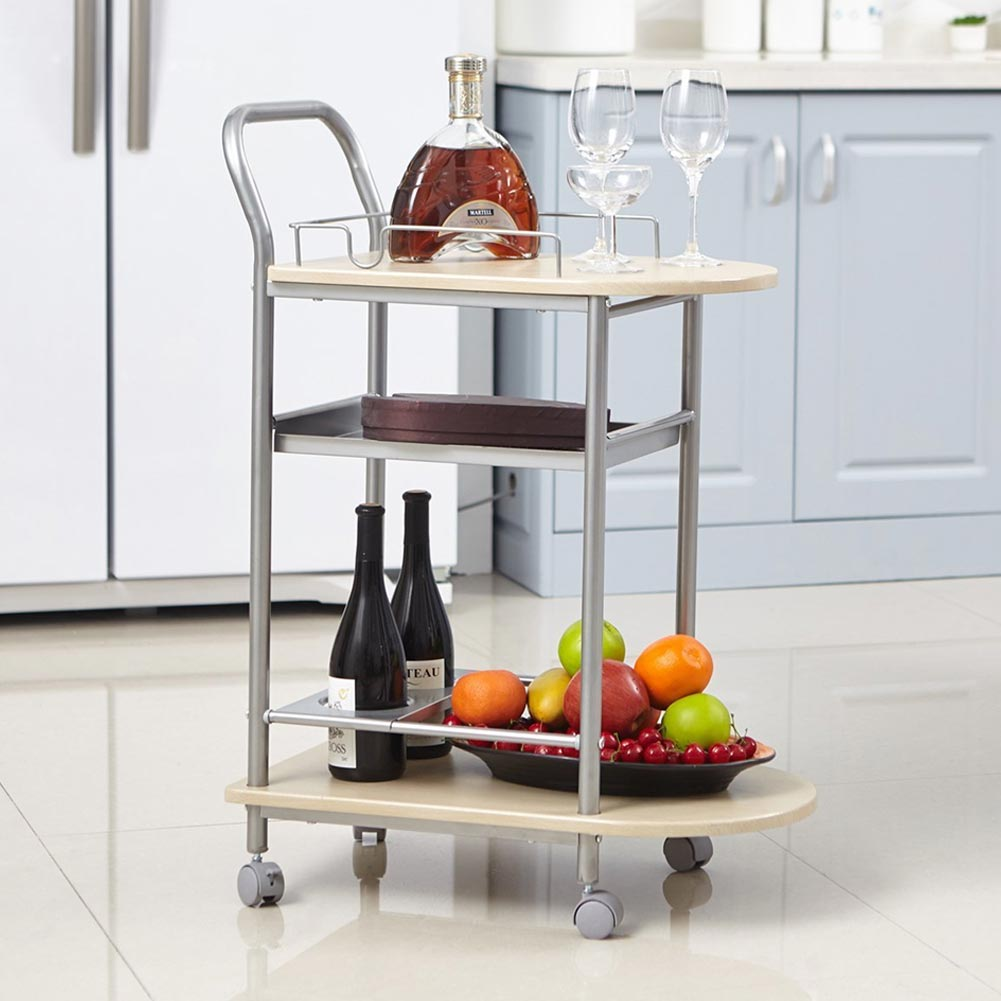 TROLLEY COOKING WITH WHEELS WOOD AND METAL TROLLEY SERVING PLATTER ...