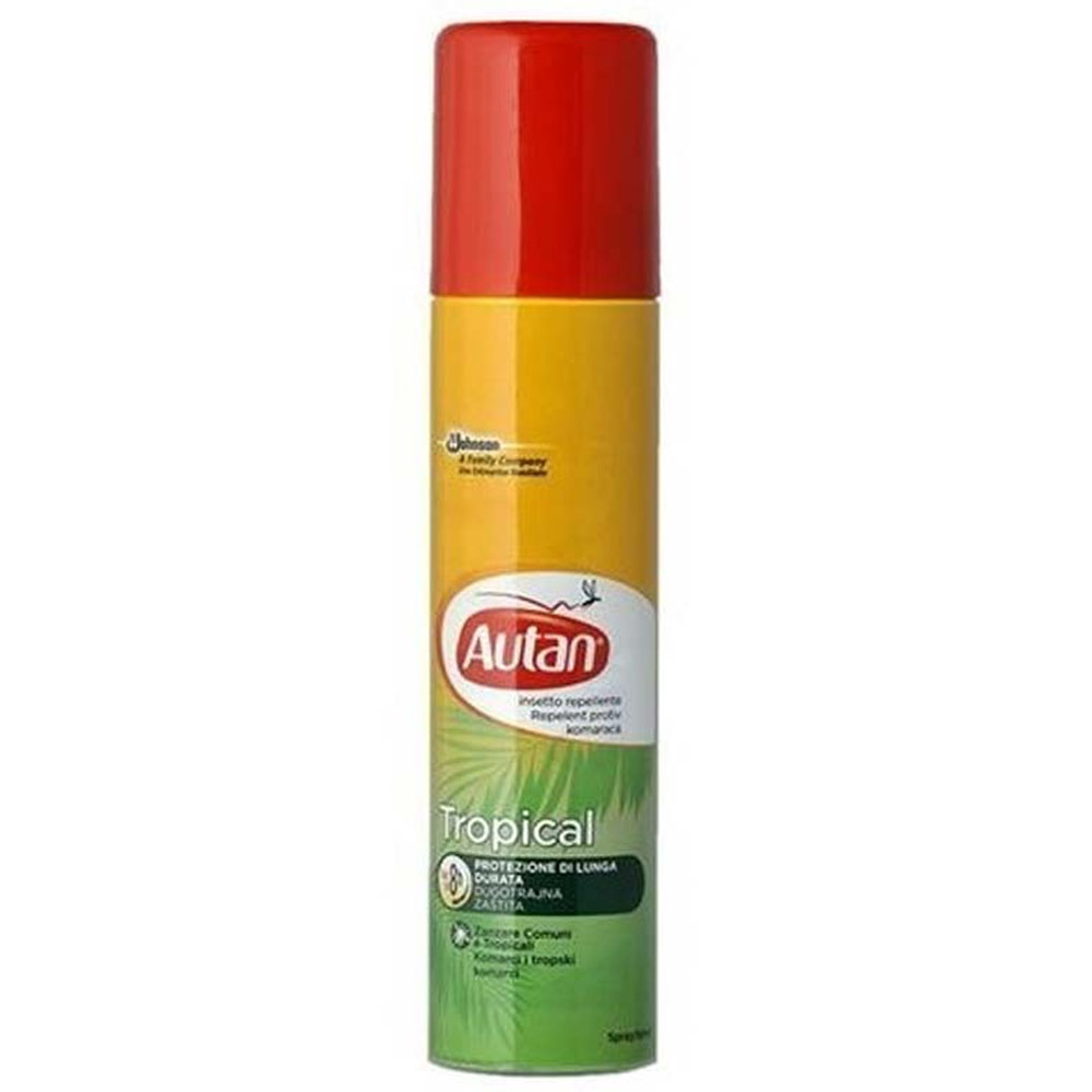 Autan Tropical Spray 100 ml Repellente Per Insetti Protezione Lunga Durata.