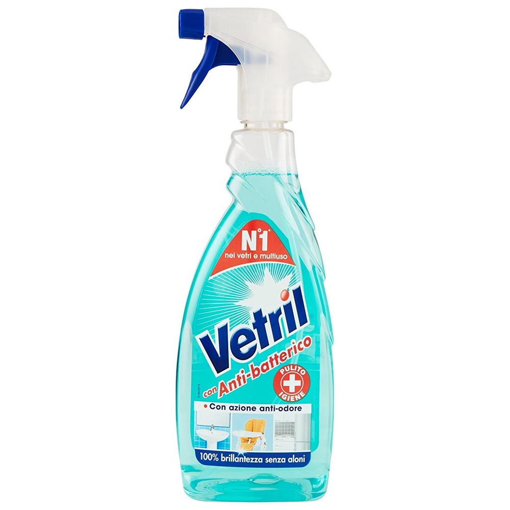 Vetril Anti-batterico Detersivo Vetri e Multiuoso Con Azione Anti-odore 650 ml.