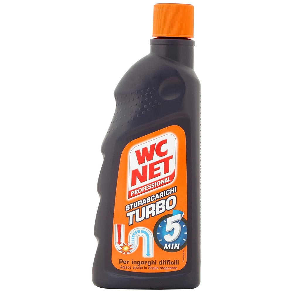 WC Net Sturascarichi Turbo Gel Superconcentrato Per Ingorghi Difficili 500 ml.