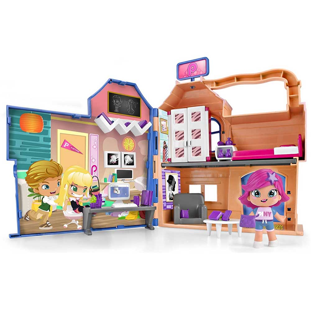 Pinypon Playset Casa dello Studente con Personaggio Michelle e Accessori Gioco.