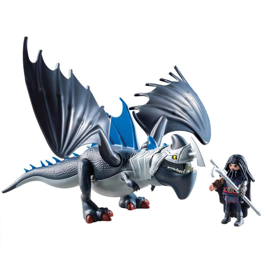 Playmobil dragons personaggi drago e artigliotornante corazzato dragon trainer.