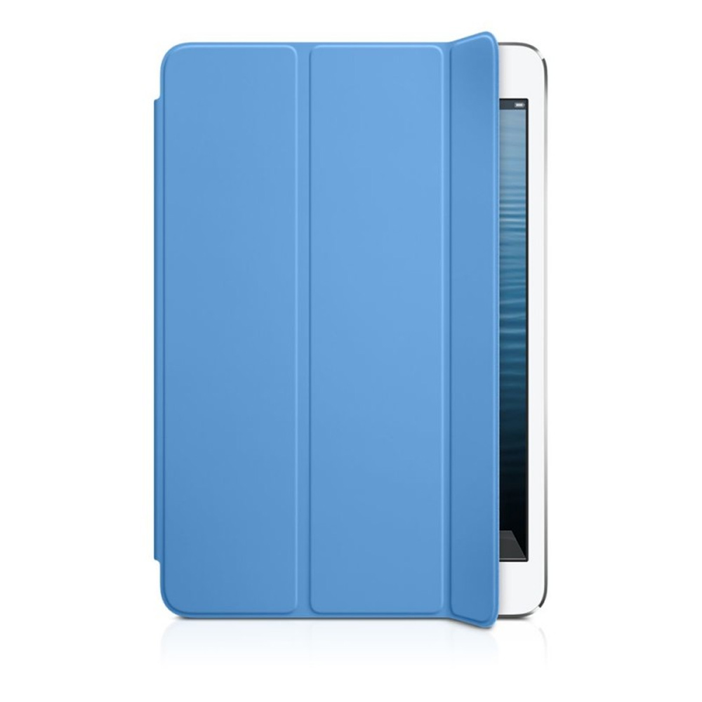 Custodia Smart Cover Per iPad Mini Apple In Poliuretano Blu Pieghevole.