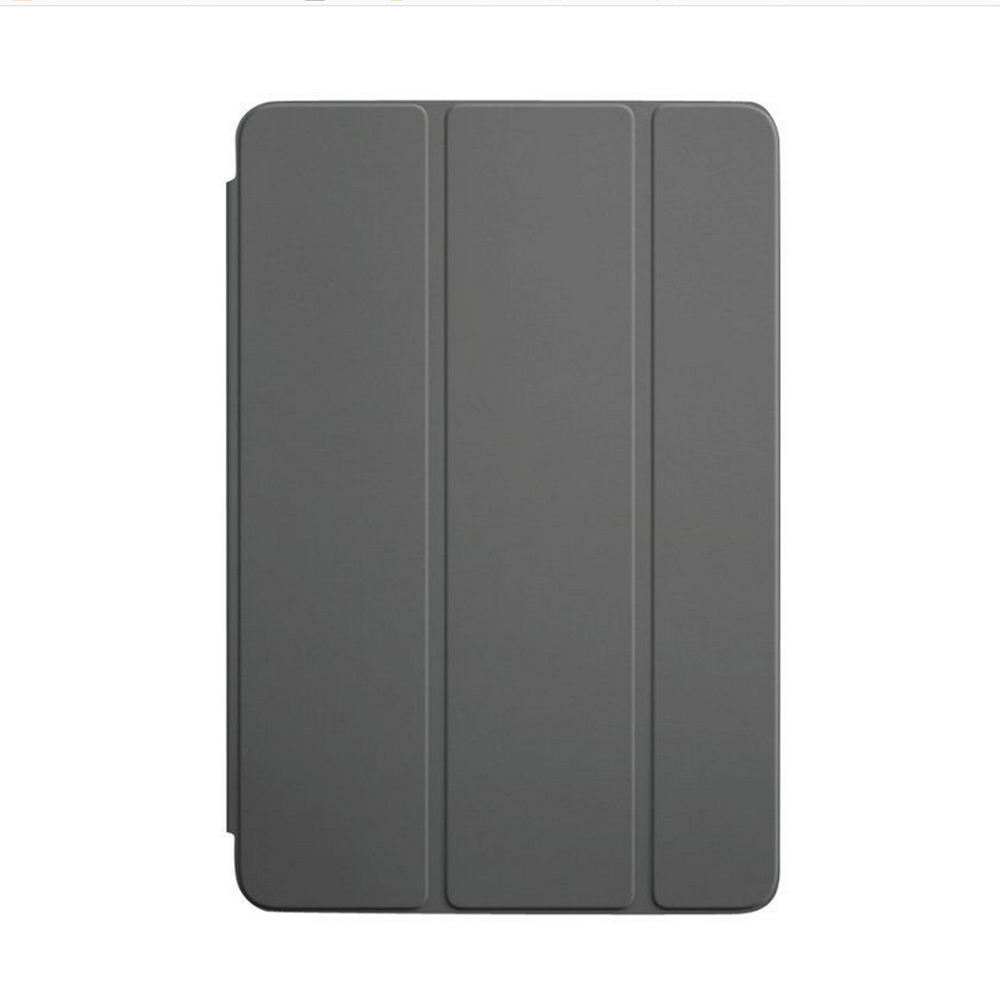 Custodia Smart Cover Per iPad Mini Apple In Poliuretano Grigio Scuro Pieghevole.