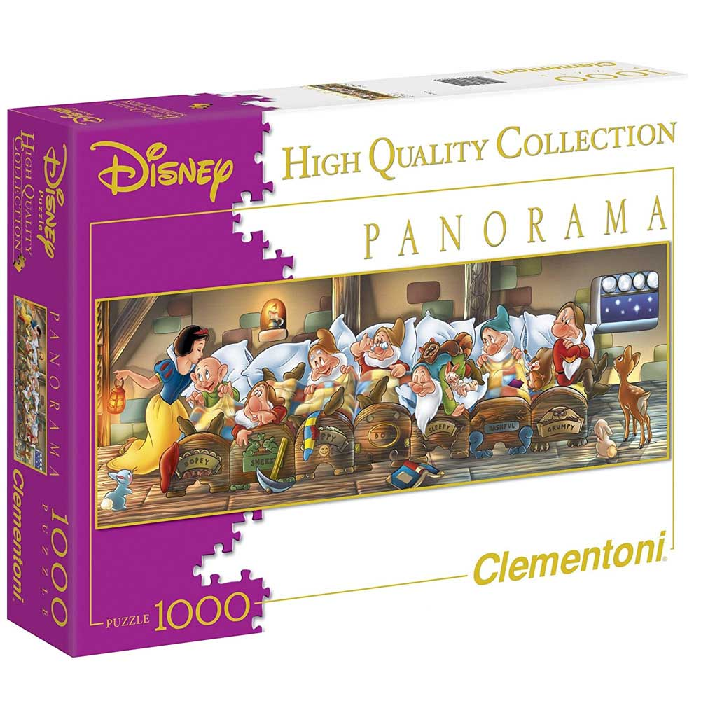 Puzzle Disney 1000pz Biancaneve Panorama Collection per Adulti Clementoni.
