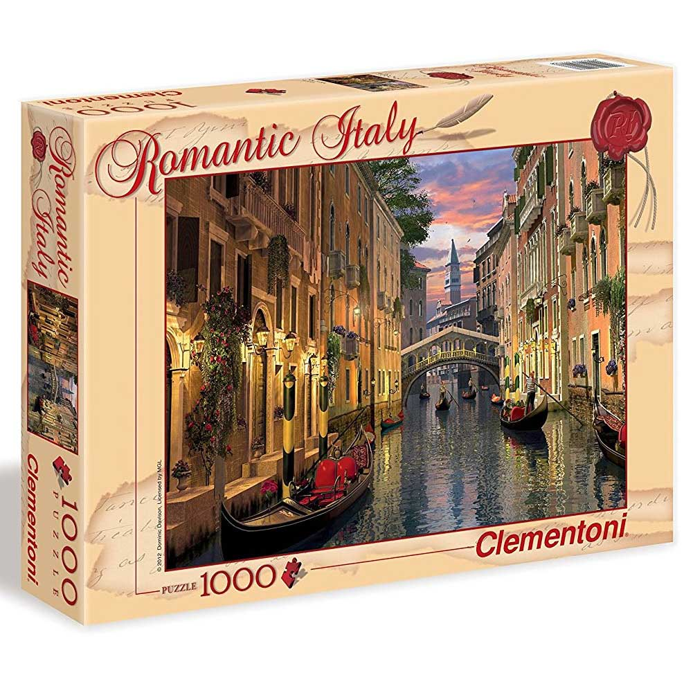 Puzzle 1000 pezzi Romantic Italy Collection Citta Venezia per Adulti Clementoni.